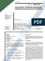 NBR 12025 -- Mb 3361 - 1990 - Solo-cimento - Ensaio de Compressao Simples de Corpos-De-prova Cili