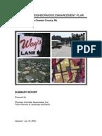 Ways Lane Neighborhood Enhancement Plan COMPLETE