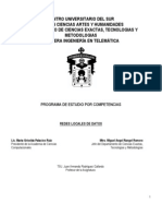 Programa de Estudio Redes Locales de Datos 2011-B