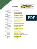 2011-2012 Calendar