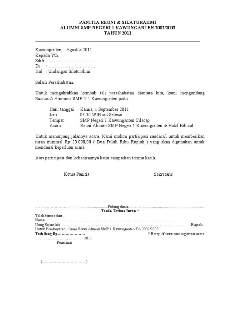 Contoh invitation tentang reuni matthewhercock contoh invitation formal untuk kepala sekolah gallery stopboris Gallery
