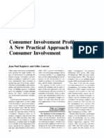 Consumer Involvement Profiles a New Practical Approach to Consumer Involvement