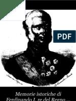 Lancellotti - Memorie istoriche di Ferdinando I° - 1827