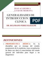 General Ida Des de Introduccion a La Clinica