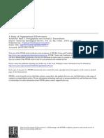 A Study of Organizational Effectiveness
