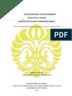 Analisis Kelemahan Dan Kelebihan Tata Guna Tanah Kabupaten Agam, Sumatera Barat