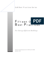 15 O&M Best Practices for Energy Efficient Buildings