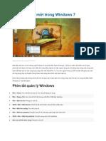 Các phím tắt mới trong Windows 7