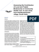 Local and traded biodiversity in community health care