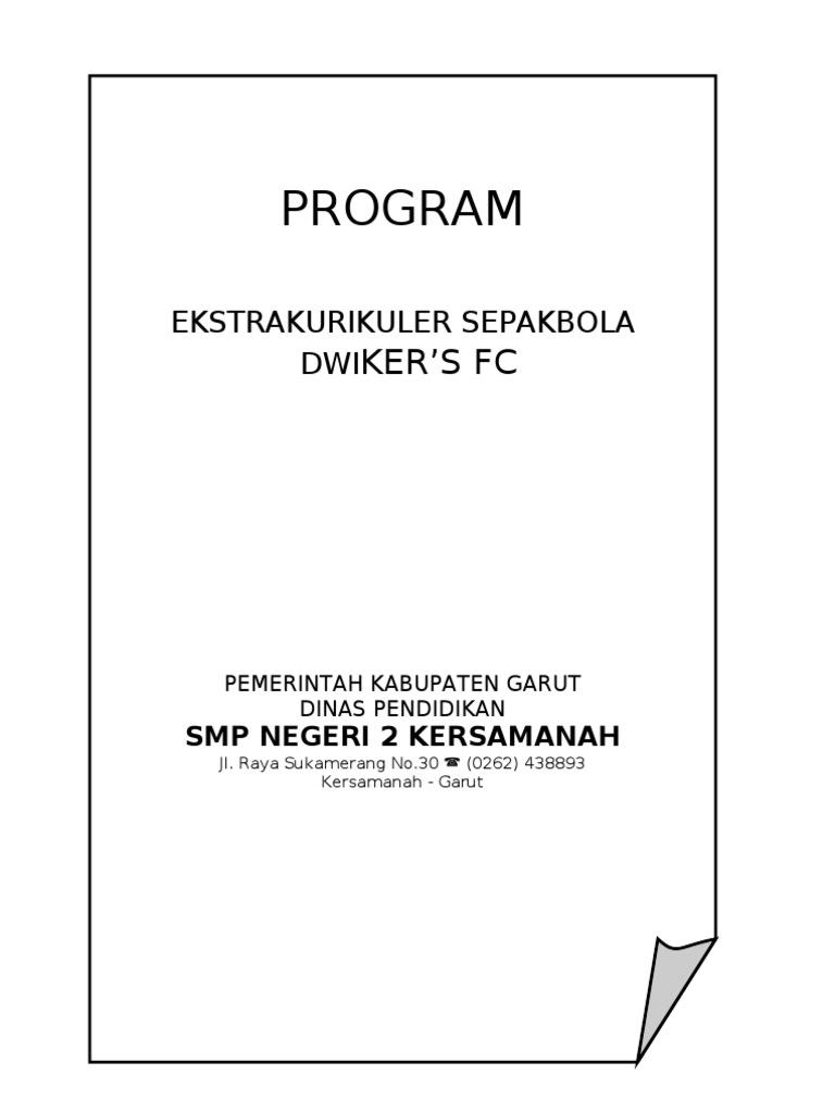program ekstrakurikuler sepak bola sd