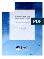 IAG Business Analysis Benchmark 2009