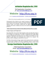 fcra-registration.com - Foreign Contribution Regulation Act (FCRA) - 2010 | Email