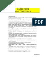 Whitman Walt - Carpe Diem