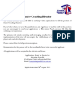 Coaching Director Advert