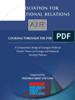 A comparative study of Georgian political parties' views on foreign and national security policies