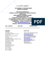 Indian Journal of Applied Basic Medical Science July 2011