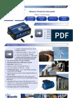 Wireless Sensor for measuring Acceleration, Shock & Vibration