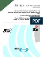 3GPP Fault Management