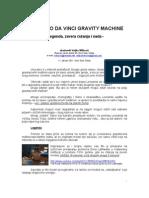 Veljko Milkovic - Leonardo Da Vinci Gravitaciona Masina
