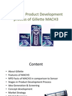 Stages in Product Development Process of Gillette MACH3