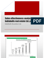Sales effectiveness analysis of Indiabulls real estate Ltd2