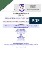 Wes-Gauteng-nuusbrief 2011-07