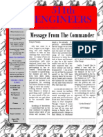 511th Sapper Company August Newsletter