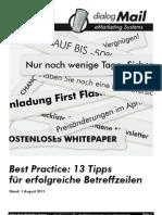 Dialog Mail Best Practice Betreffzeilen