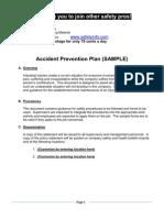Accident Prevention Plan Elements