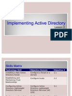 Implementing Active Directory of MS Windows Server 2008