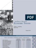 Small Business Optimism August 2011