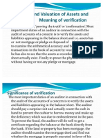 Verificatio and Valuation