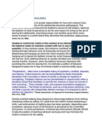 DOJ -- Profile of an Obsessive Stalker