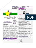 Newsletter August 9 2010