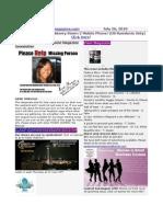 Newsletter July 26 2010
