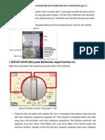 Cara Menggunakan Avometer Multi Meter Multi Tester
