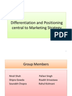 Differentiation and Positioning Central to Marketing Strategy(1)