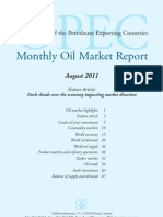 OPEC - Monthly Oil Market Report - August 2011