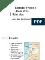 Ecuador Frente a Los Desastres Naturales