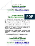 fcra-registration.com - Reasons for Rejection of FCRA Application - Email