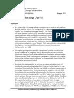 EIA - Short Term Energy Outlook Report - August 2011