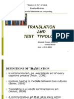 Translation and Text Typology