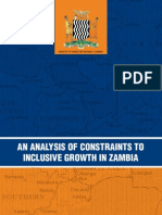 An Analysis of Constraints to Inclusive Growth in Zambia 2011