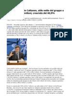 Terna, AD Flavio Cattaneo, utile netto del gruppo a 329,2 milioni, cresciuto del 40,9%