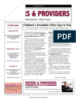 Payers & Providers Midwest Edition – Issue of August 9, 2011