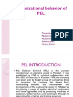Organizational Behavior of PEL