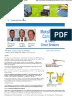 Make Break Contacts in Power Circuit Breakers - Zensol