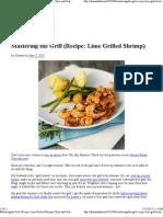 Lime Grilled Shrimp