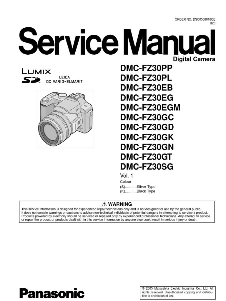 panasonic dmc fz30 et electrostatic discharge image stabilization rh es scribd com
