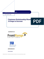 10 Steps to CRM Success